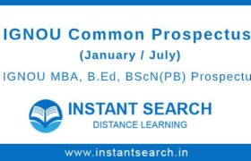 IGNOU Common Prospectus