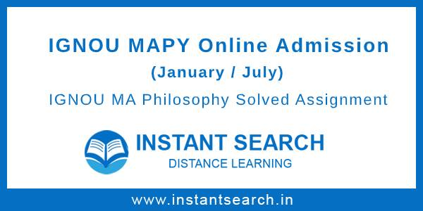 IGNOU MAPY Online Admission