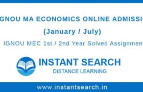 IGNOU MEC Online Admission