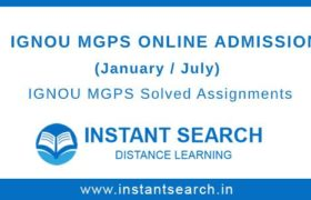 IGNOU MGPS Online Admission
