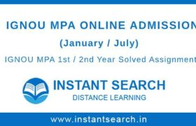 IGNOU MPA Online Admission