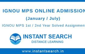 IGNOU MPS Online Admission