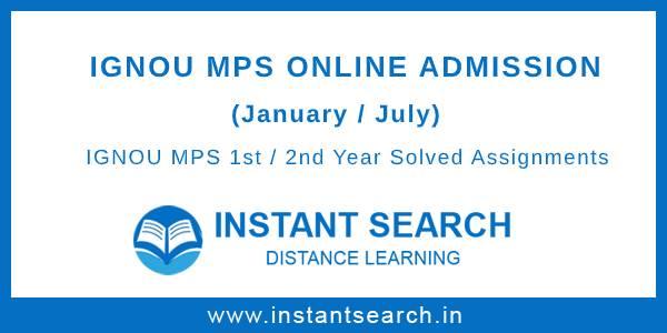 IGNOU MPS Online Admission