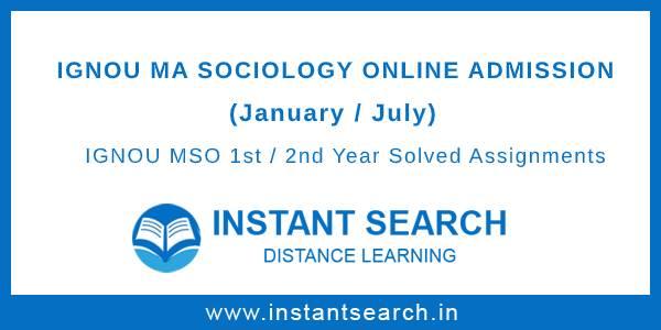 IGNOU MSO Online Admission