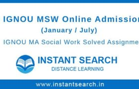 IGNOU MSW Online Admission