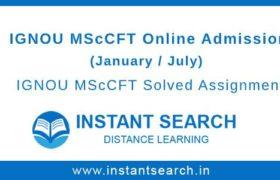 IGNOU MScCFT Online Admission