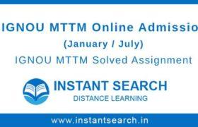 IGNOU MTTM Online Admission