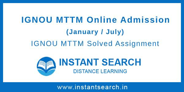 IGNOU MTTM Online Admission