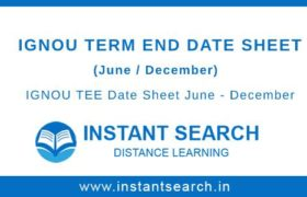 IGNOU TEE Date Sheet
