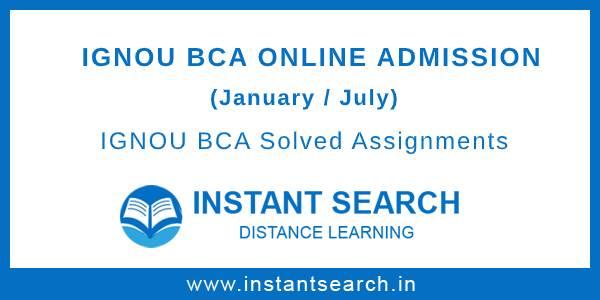 IGNOU BCA Online Admission