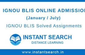 IGNOU BLIS Online Admission