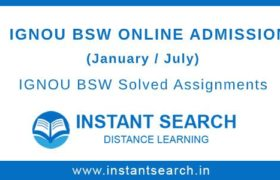 IGNOU BSW Online Admission