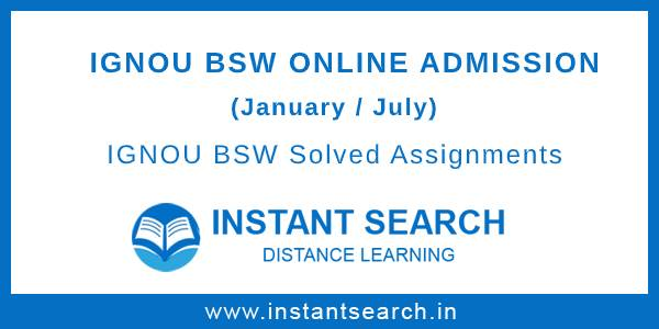 IGNOU BSW Online Admission