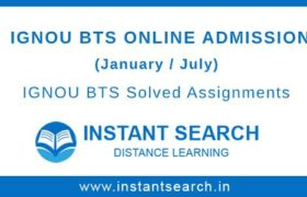 IGNOU BTS Online Admission