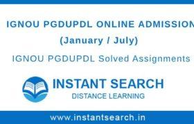 IGNOU PGDUPDL Online Admission