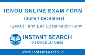 IGNOU Online Examination Form