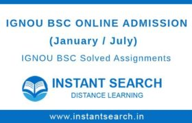IGNOU BSC Online Admission