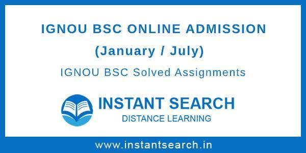 IGNOU BSC Online Admission