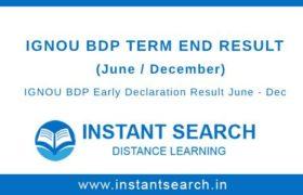 IGNOU BDP Result