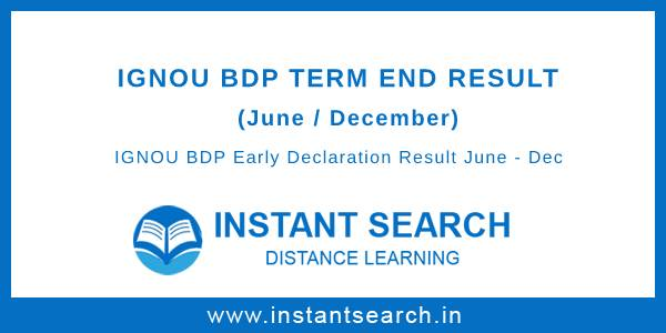 IGNOU BDP Result