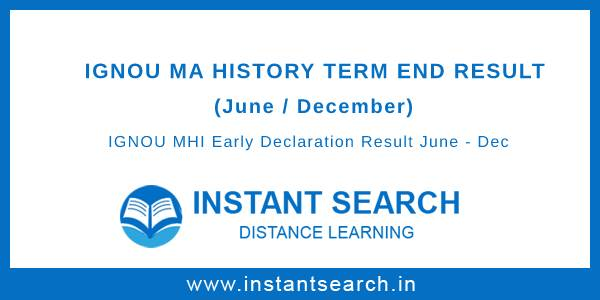 IGNOU MA History Result