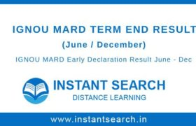IGNOU MARD Result