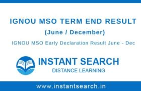 IGNOU MA Sociology Result