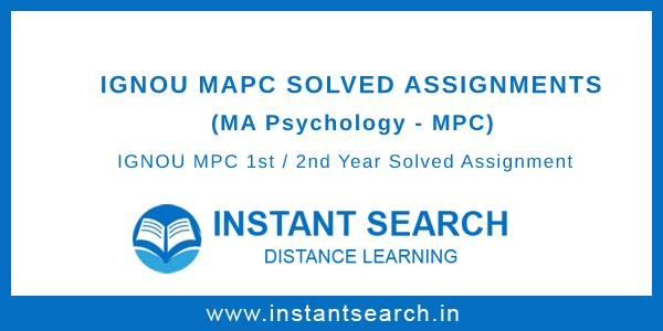 Ignou MAPC Solved Assignments
