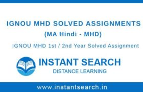 Ignou MHD Solved Assignments