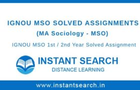Ignou MSO Solved Assignments