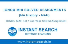 IGNOU MAH Solved Assignments