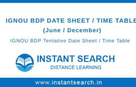 IGNOU BDP Date Sheet