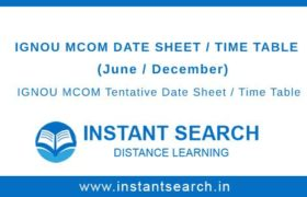 IGNOU MCOM Date Sheet