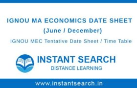 IGNOU MEC Date Sheet