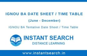 IGNOU BA Date Sheet