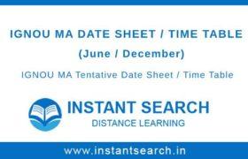 IGNOU MA Date Sheet