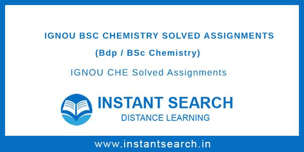 IGNOU CHE Solved Assignment
