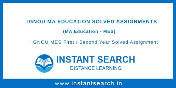 Ignou MES Solved Assignment