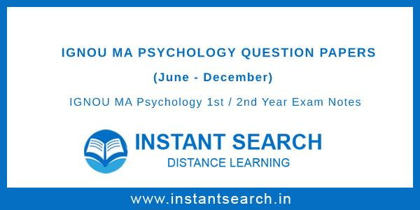 IGNOU MAPC Question Papers