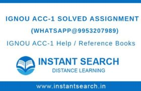 IGNOU ACC-1 Assignment Free Download