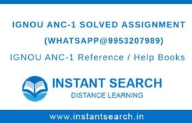 IGNOU ANC-1 Solved Assignment