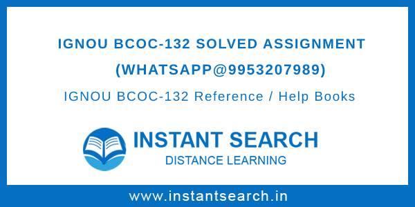 IGNOU BCOC 132 Solved Assignment