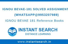 IGNOU BEVAE 181 Solved Assignment