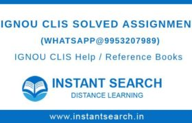 IGNOU CLIS Assignment PDF
