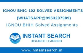Free IGNOU BHIC-102 Assignment