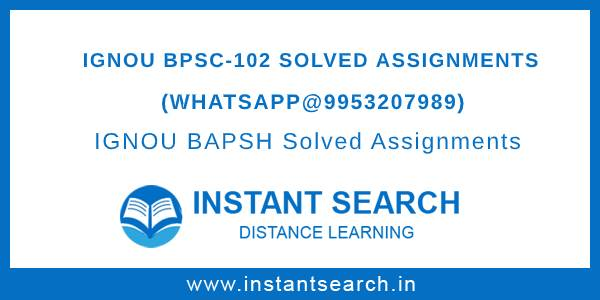 Free IGNOU BPSC-102 Assignment