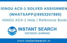 IGNOU ACS1 Solved Assignment
