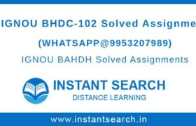 IGNOU BHDC102 Solved Assignment