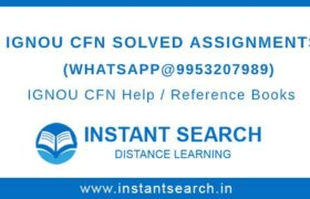 IGNOU CFN Assignment Free Download