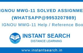 IGNOU MWG11 Solved Assignment